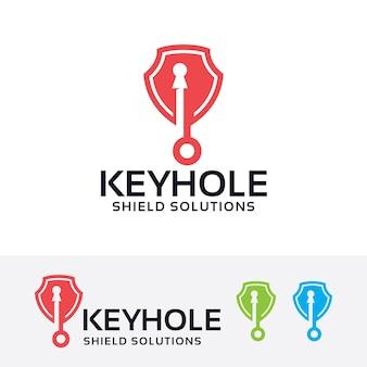 Schlüsselloch-schild logo-vorlage