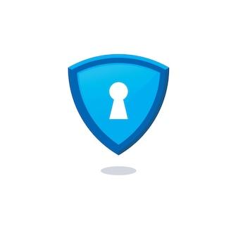 Schlüsselloch-symbol für sichere logo-vorlage
