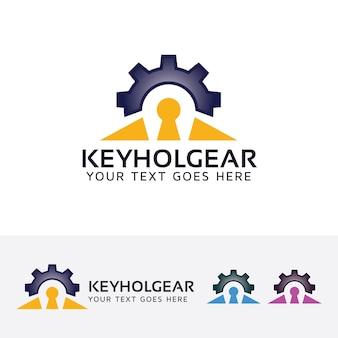 Schlüsselloch zahnrad logo vorlage