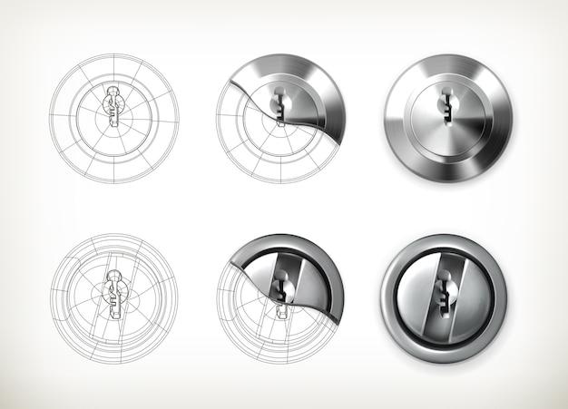 Schlüssellochzeichnung illustration
