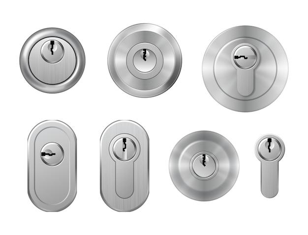 Schlüssellöcher aus stahl und metall