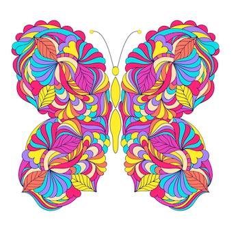 Schmetterling auf weißem hintergrund