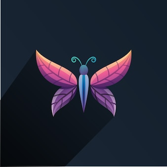 Schmetterling blatt logo