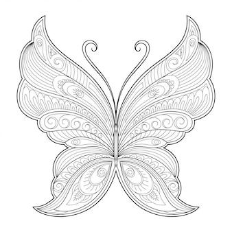 Schmetterling dekoratives element.