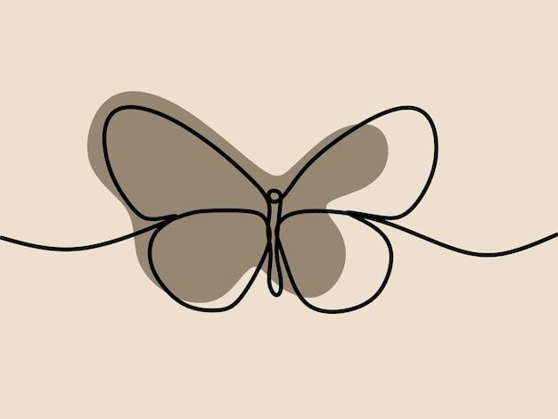 Schmetterling einzeilige durchgehende strichzeichnungen