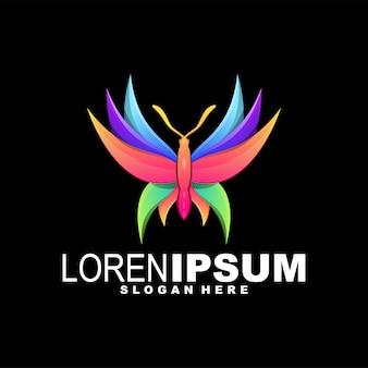 Schmetterling farbenfrohes logo