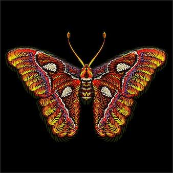 Schmetterling für tattoo oder t-shirt design oder outwear. niedlicher druckartschmetterling.