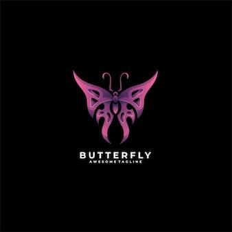 Schmetterling geometric gradient logo.
