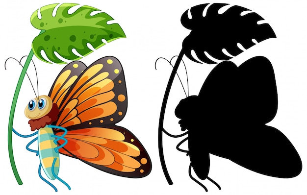 Schmetterling hält gießkanne