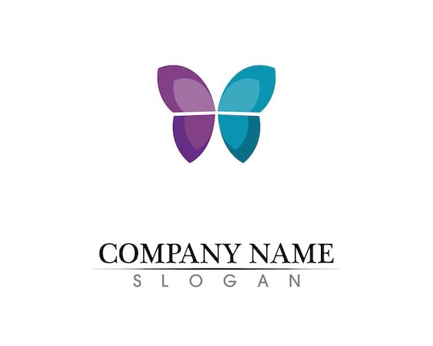 Schmetterling konzeptionelle einfache, bunte ikone. logo.