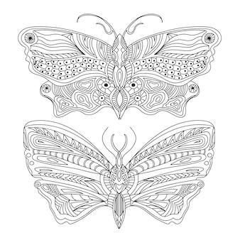 Schmetterling kreatives konzept - schwarz und weiß - vektor