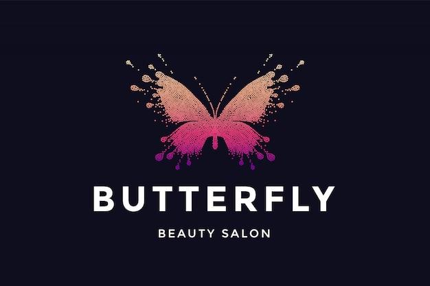 Schmetterling. logo für schönheitssalon