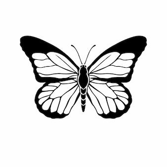 Schmetterling logo symbol schablone design tattoo vektor illustration