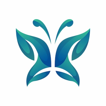 Schmetterling logo vektor