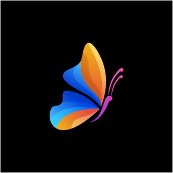 Schmetterling modernes logo-design