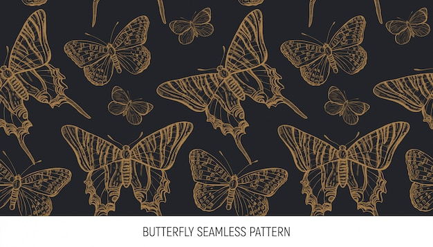Schmetterling nahtloses muster