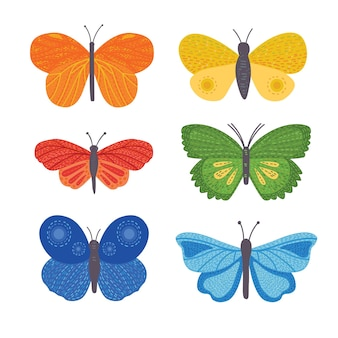 Schmetterlinge clipart-set