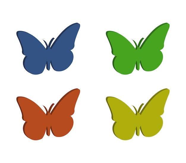 Schmetterlinge gesetzt