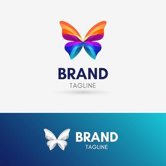 Schmetterlings-band-logo