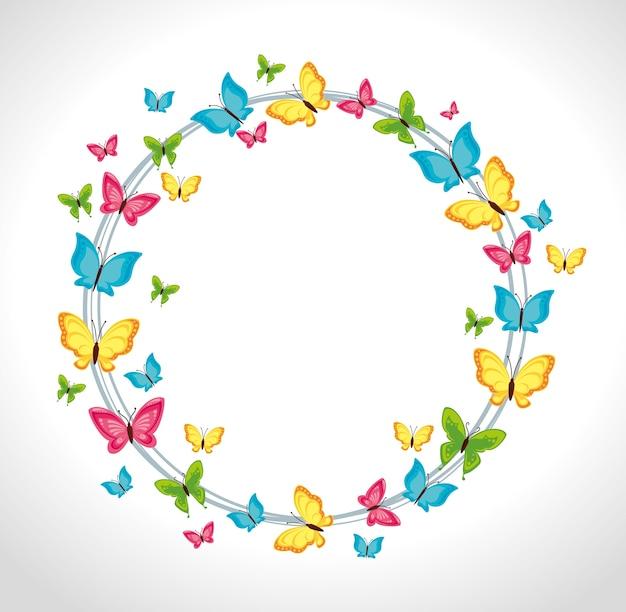 Schmetterlings-design.