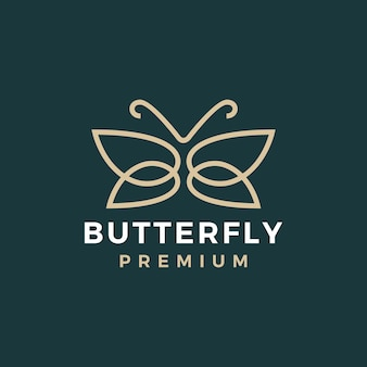Schmetterlings-gold-logo-vorlage