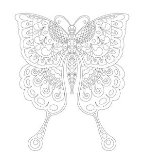 Schmetterlings-mandala-design zum ausdrucken von malvorlagen
