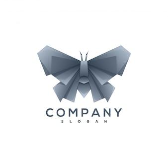 Schmetterlings-origami-stil logo