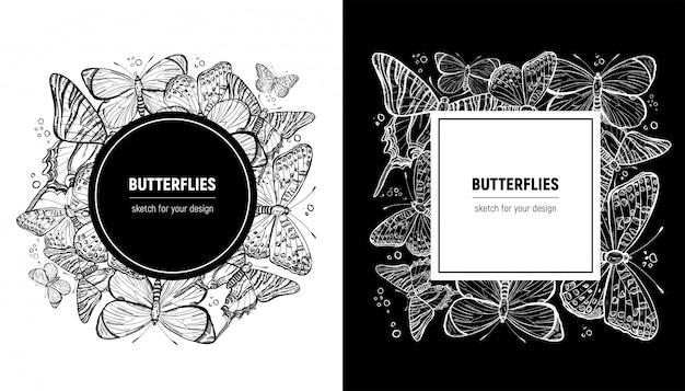 Schmetterlingsfrühlingsrahmen