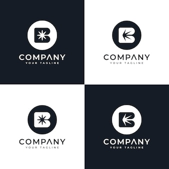 Schmetterlingsgesicht kreatives logodesign und visitenkartenvorlage premium-vektor