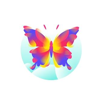 Schmetterlingsillustration für logo