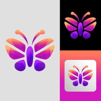 Schmetterlingslogodesign