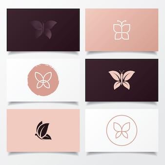 Schmetterlingslogoentwurf