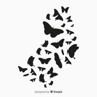 Schmetterlingsschwarm hintergrund