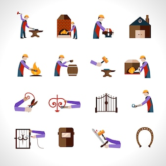 Schmiede icons set