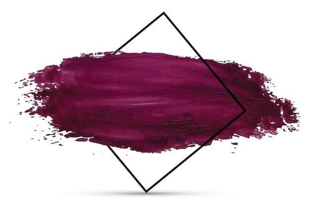 Schmierfarbe textur mit schwarzem rahmen