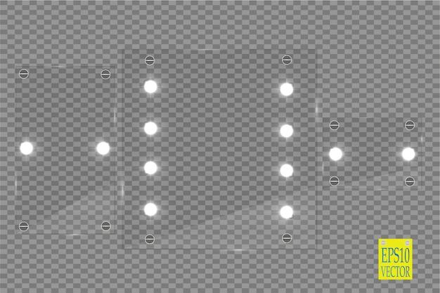 Schminkspiegel mit lichtern isoliert