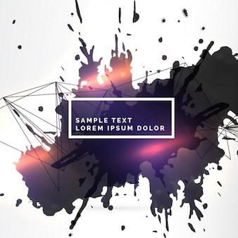 Schmutzig tinte splatter hintergrund mit lichteffekt