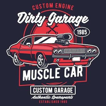 Schmutzige garage