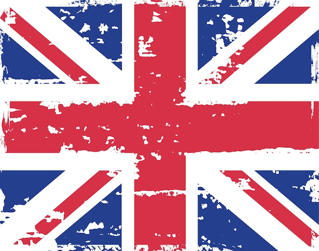 Schmutzige grunge-flagge des vereinigten königreichs