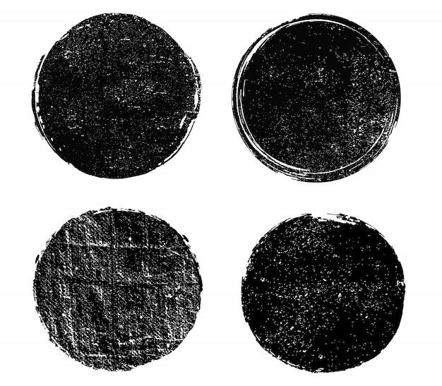 Schmutzige runde briefmarken