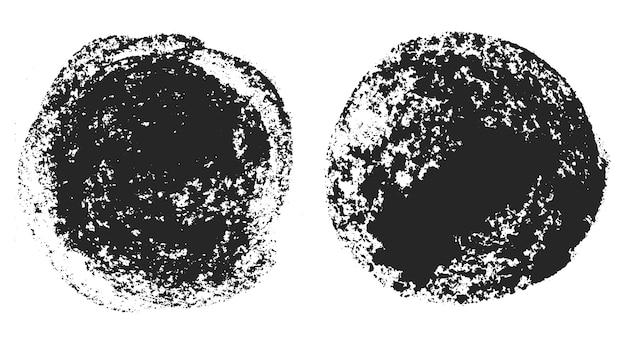 Schmutzige schmutzige runde flecken