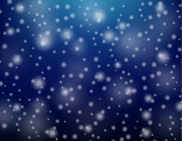 Schnee fällt auf eine winternacht