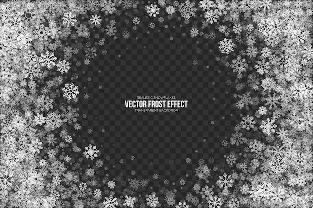 Schnee frost effekt rahmen
