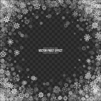 Schnee-frost-effekt-transparenter hintergrund