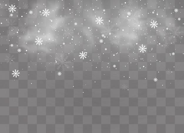Schnee und wind.