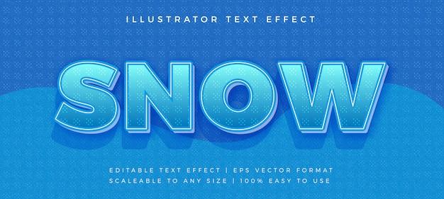 Schnee winter text schriftart effekt