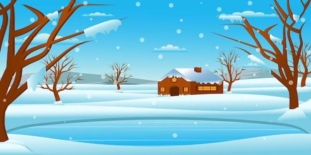 Schneefall-hintergrund ist ein kreatives und bearbeitbares design