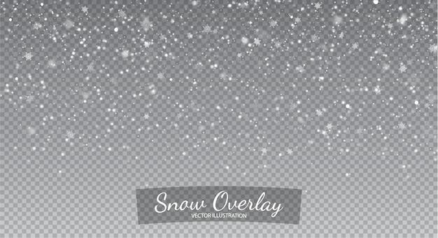 Schneefall overlay