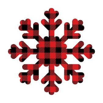 Schneeflocke-büffel-plaid vektor-feiertags-design-elemente weihnachten buffalo plaid