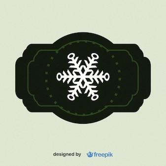 Schneeflocke etikett